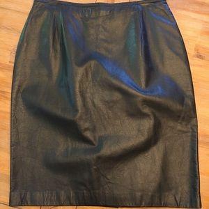 Lauren by RL Ralph Lauren Leather skirt